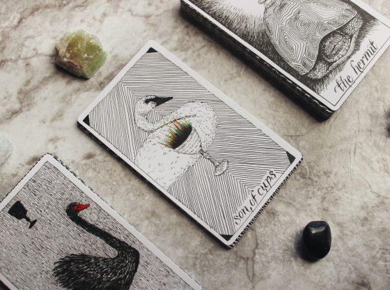 tarot cards and crystals